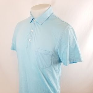 J Crew Mens Polo Rugby Shirt Sz Medium S/S Slim